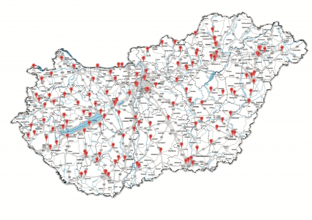 New Super Speed Cameras in Hungary - Map of fixed cams